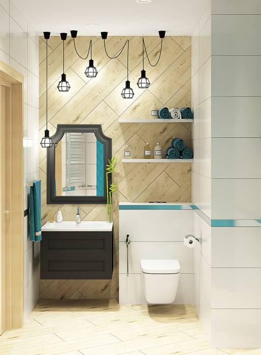 1 к.кв. для девушки в ЖК Черемушки 2 (51 кв.м): Ванные комнаты в . Автор – ДизайнМастер