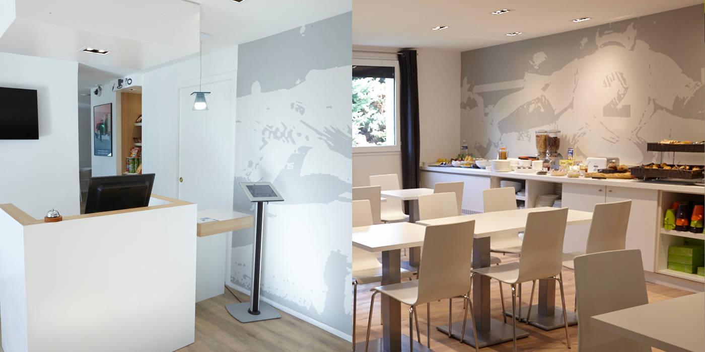 Rénovation d'un hôtel Ibis Styles: Hôtels de style  par Trace & Associes architecture