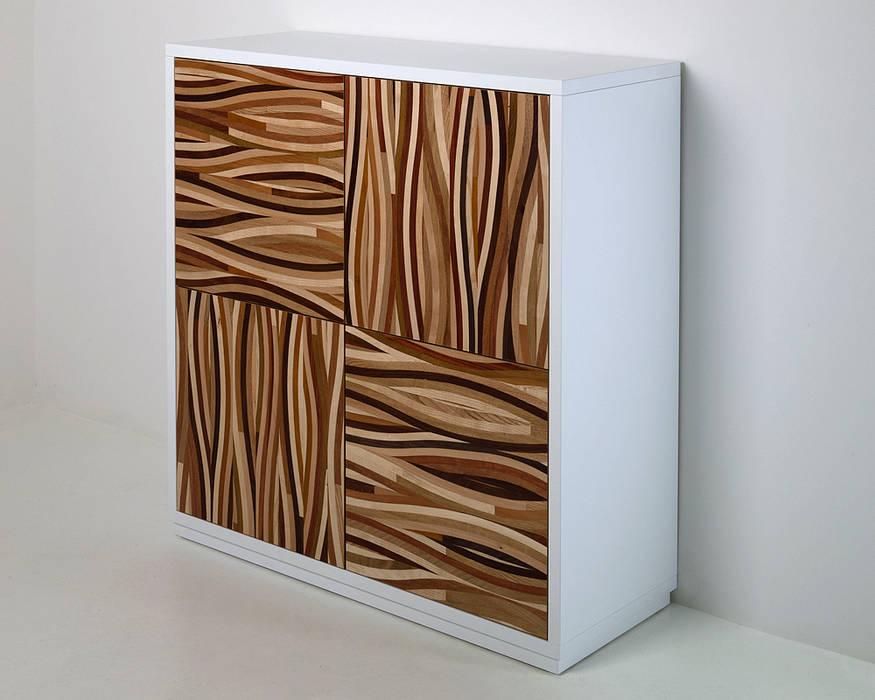 Credenza Moderna Bianca Alta : Credenza alta dal design moderno « multiessenza soggiorno
