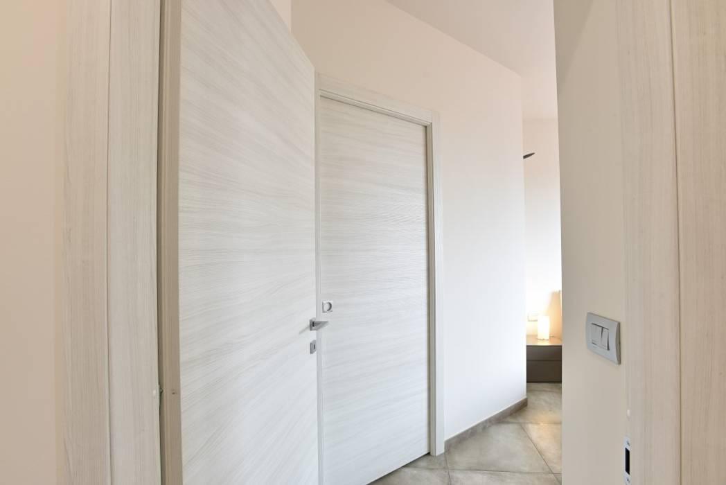 appartamento C+G - 2015 architetto Davide Fornero Camera da letto moderna Legno Bianco