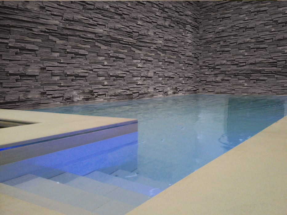 Luxury Pool with a Moving Floor :  Pool by London Swimming Pool Company