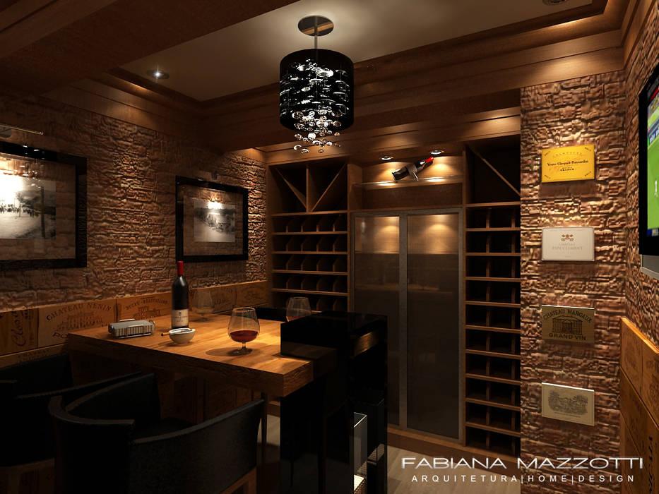 Adega em Gramado Adegas rústicas por Fabiana Mazzotti Arquitetura e Interiores Rústico