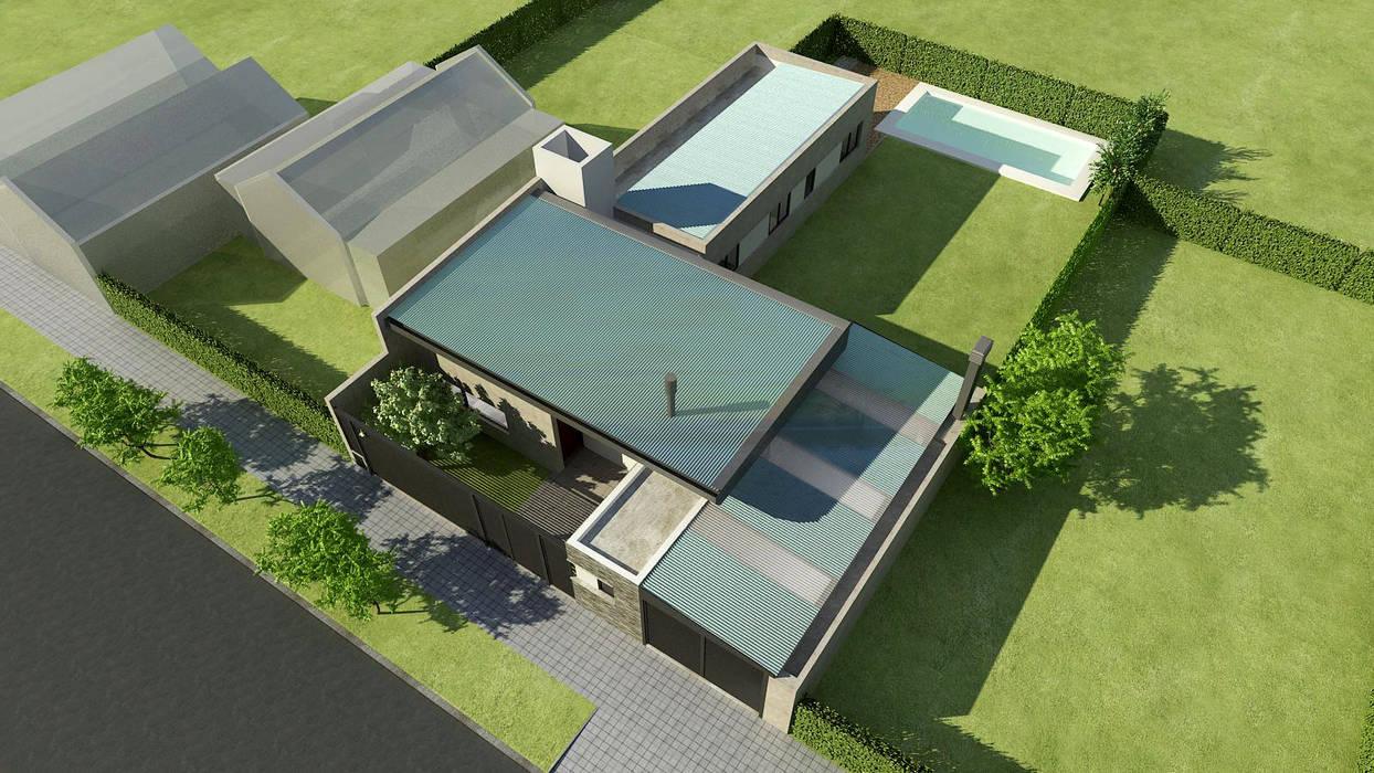 Casas estilo moderno: ideas, arquitectura e imágenes de unoenseis Estudio Moderno