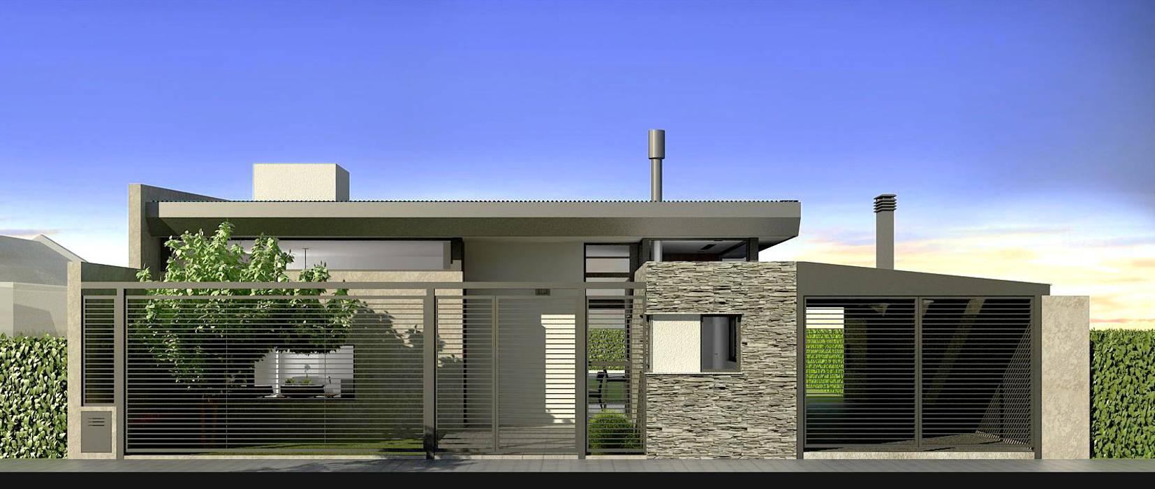 Maisons de style  par unoenseis Estudio, Moderne