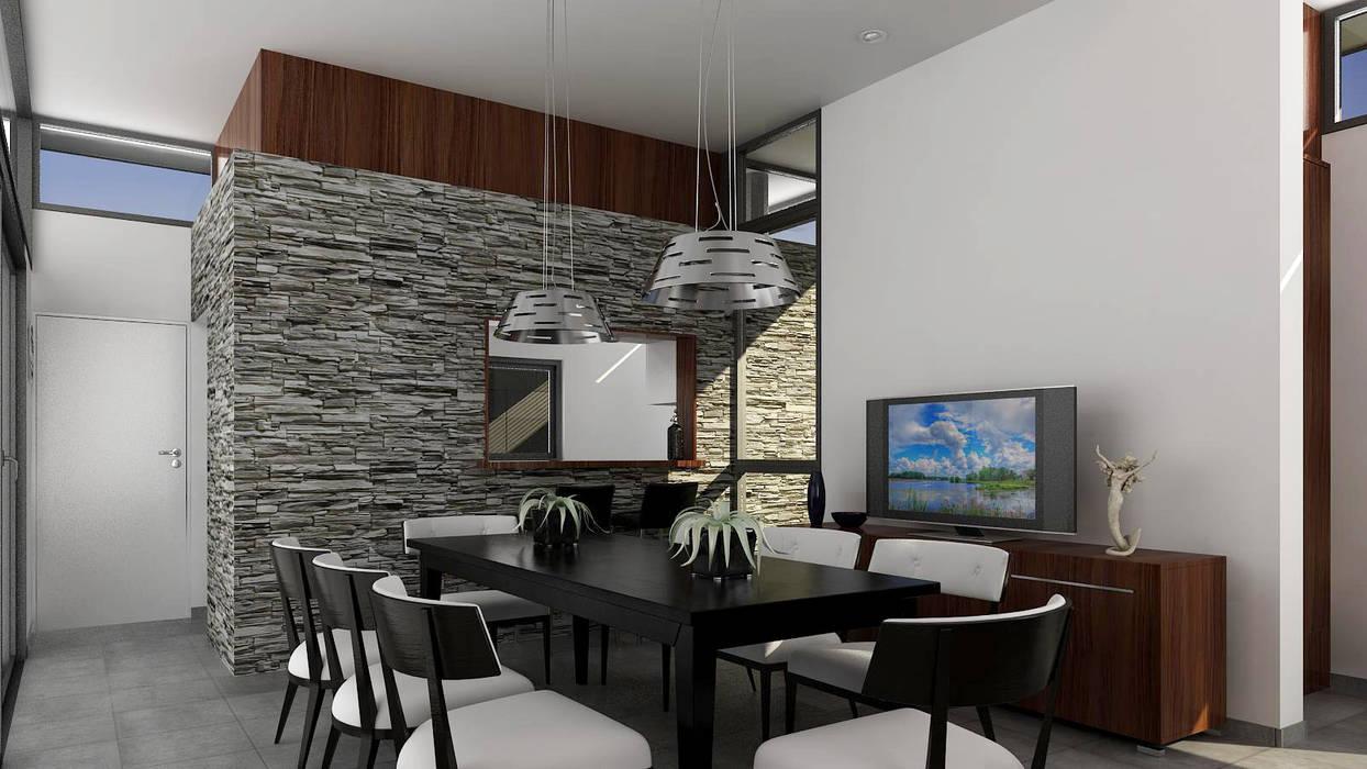 Salle à manger de style  par unoenseis Estudio, Moderne
