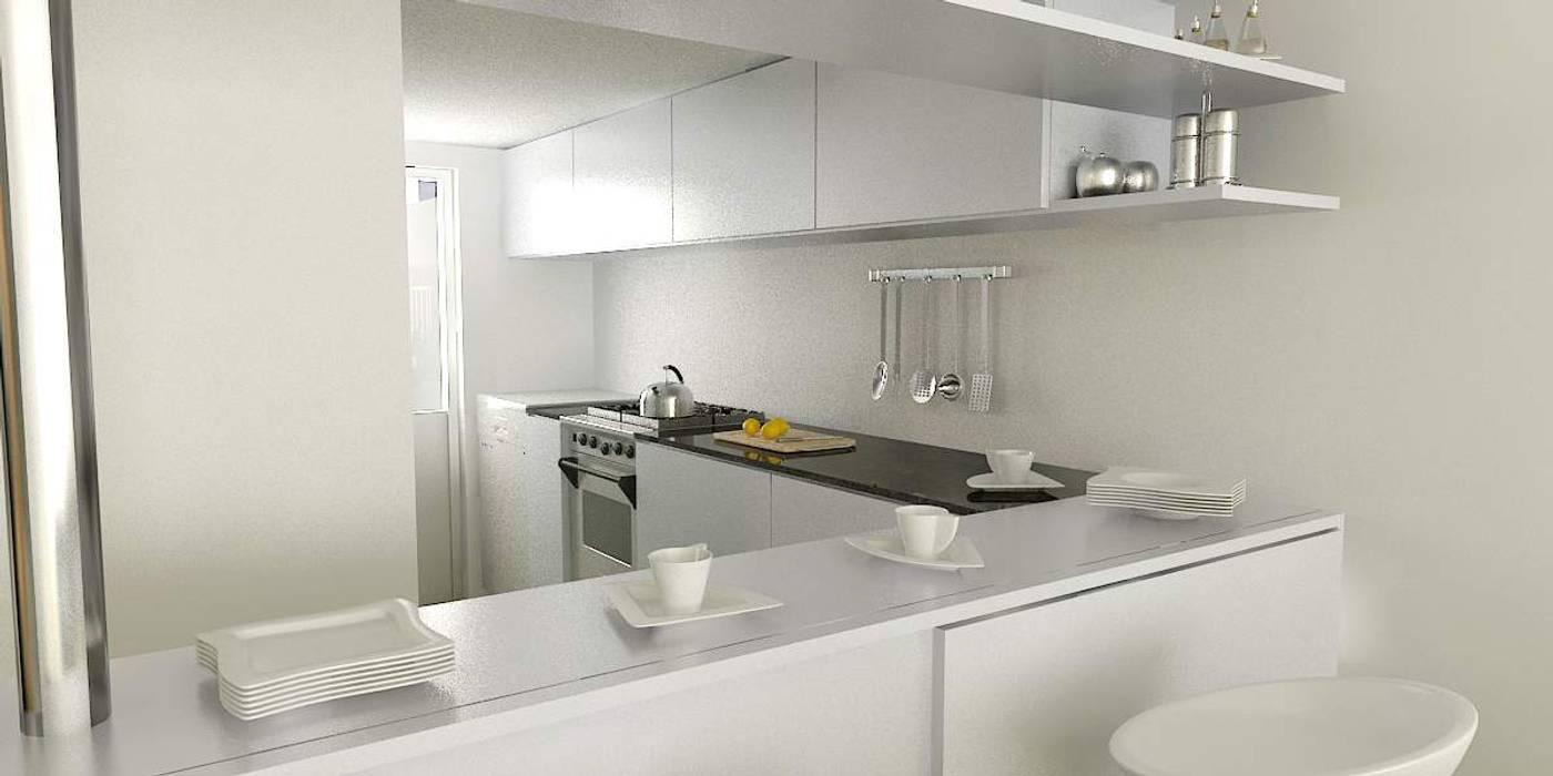 Minimalist kitchen by unoenseis Estudio Minimalist
