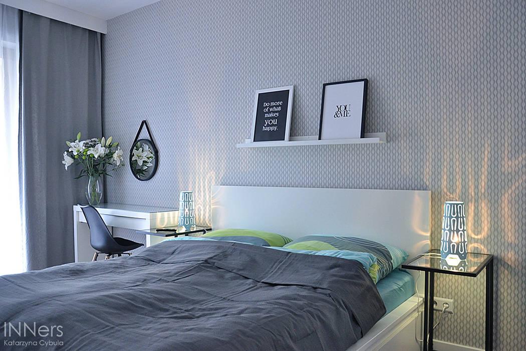 Scandinavian style bedroom by INNers - architektura wnętrza Scandinavian