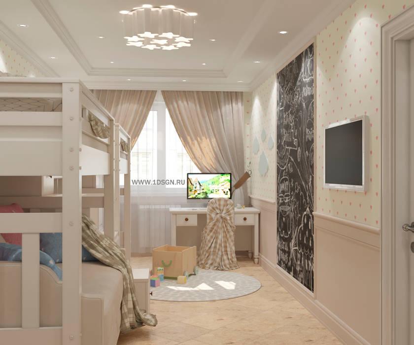 Дизайн проект детской комнаты г. Санкт-Петербург: Детские комнаты в . Автор – Дизайн студия 'Дизайнер интерьера № 1'