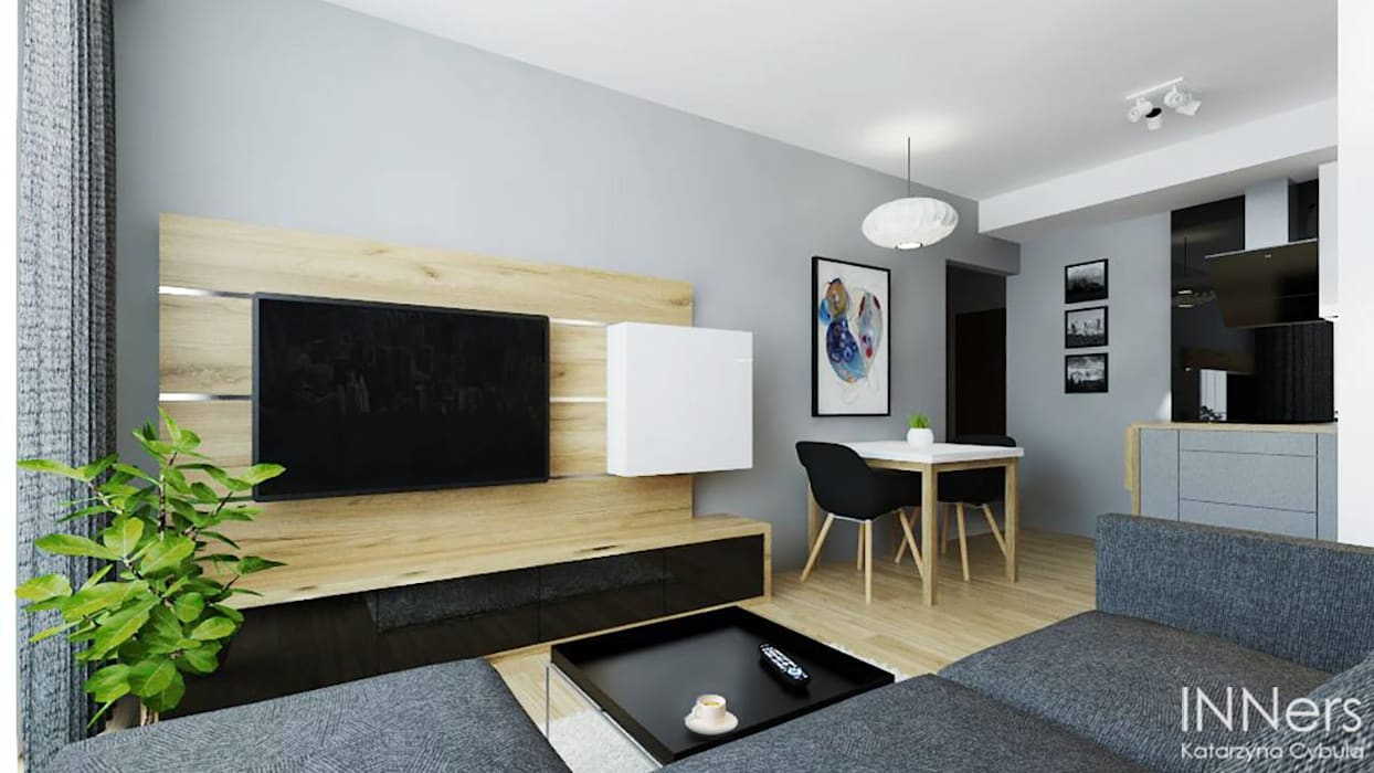 Ruang Keluarga Modern Oleh INNers - architektura wnętrza Modern