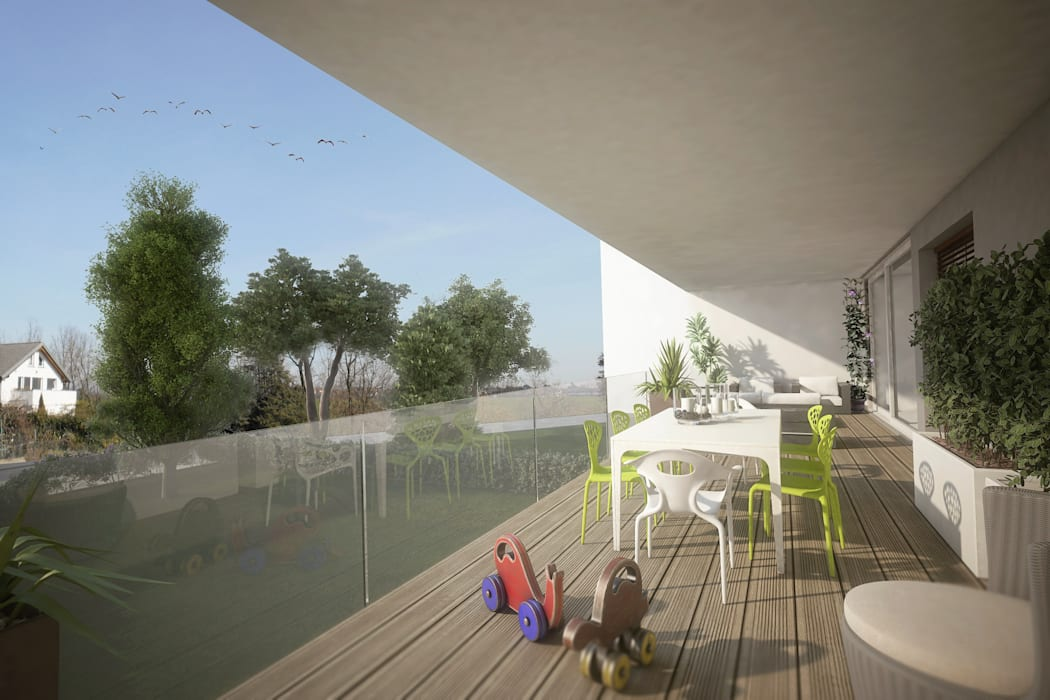 Modern style balcony, porch & terrace by Ivan Rivoltella Modern