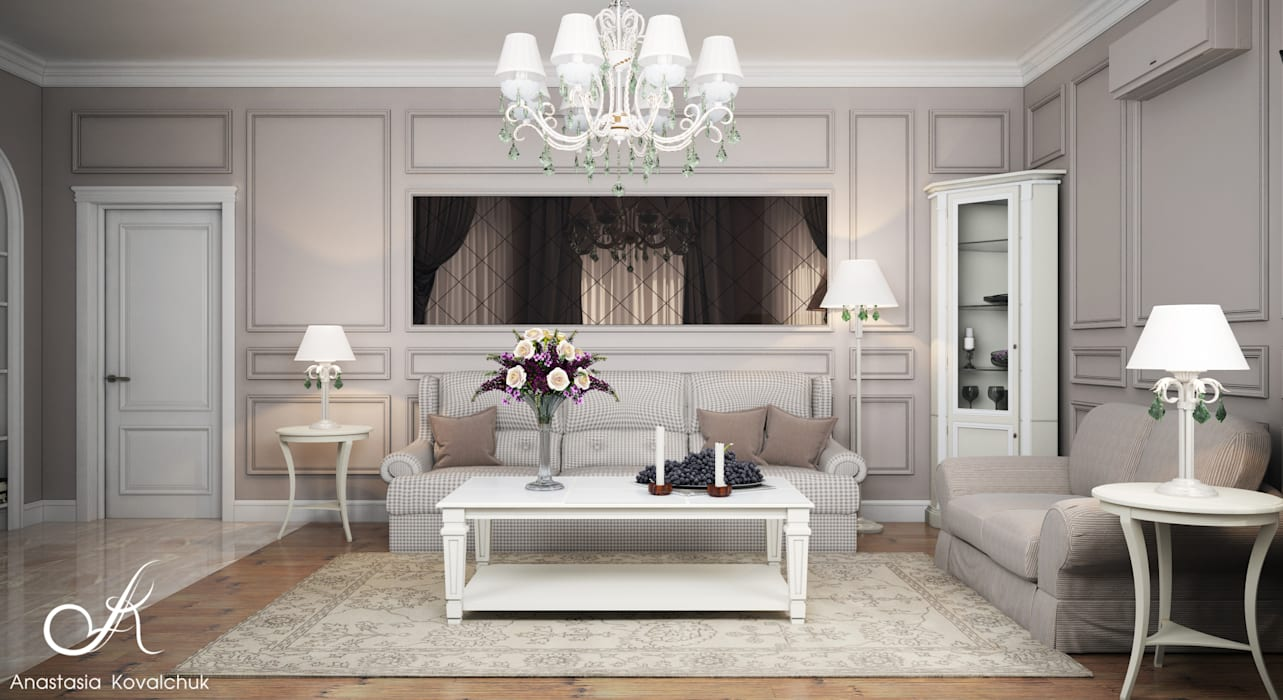 Classic style living room by Design studio by Anastasia Kovalchuk Classic