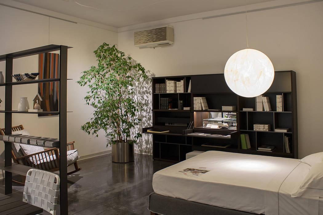 Una camera da letto dai colori naturali: camera da letto in ...