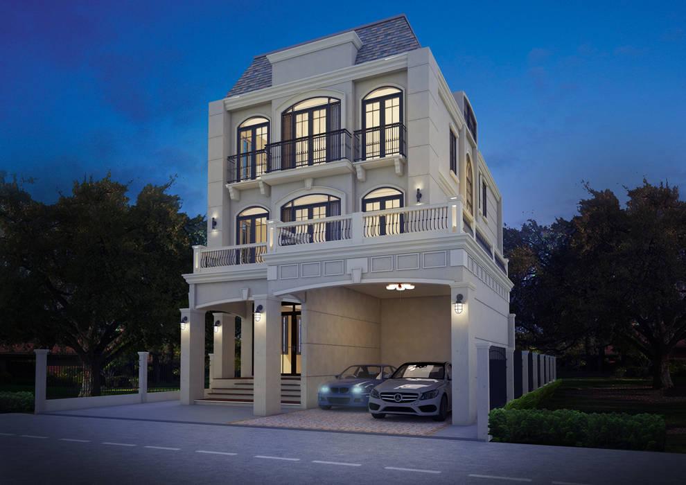 European House:  บ้านและที่อยู่อาศัย by No.13 Design