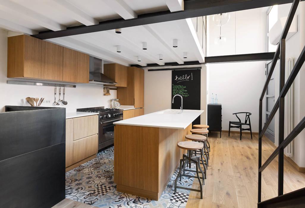 Cocinas de estilo  por NOMADE ARCHITETTURA E INTERIOR DESIGN, Industrial