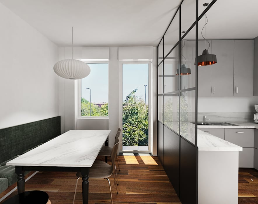 Pranzo con panca: cucina in stile di euga design studio   homify