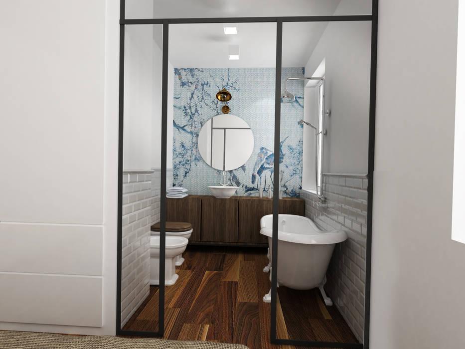 bagno in camera: Bagno in stile in stile Industriale di Euga Design Studio
