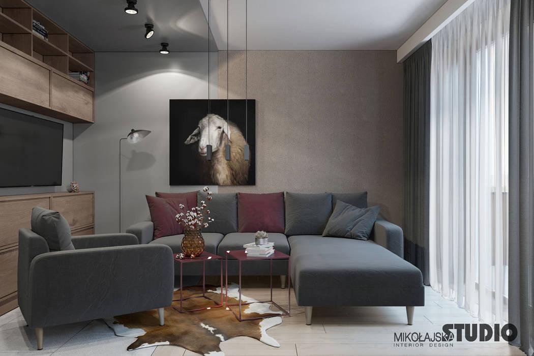 Wohnzimmer mit offener küche minimalistische wohnzimmer von ...