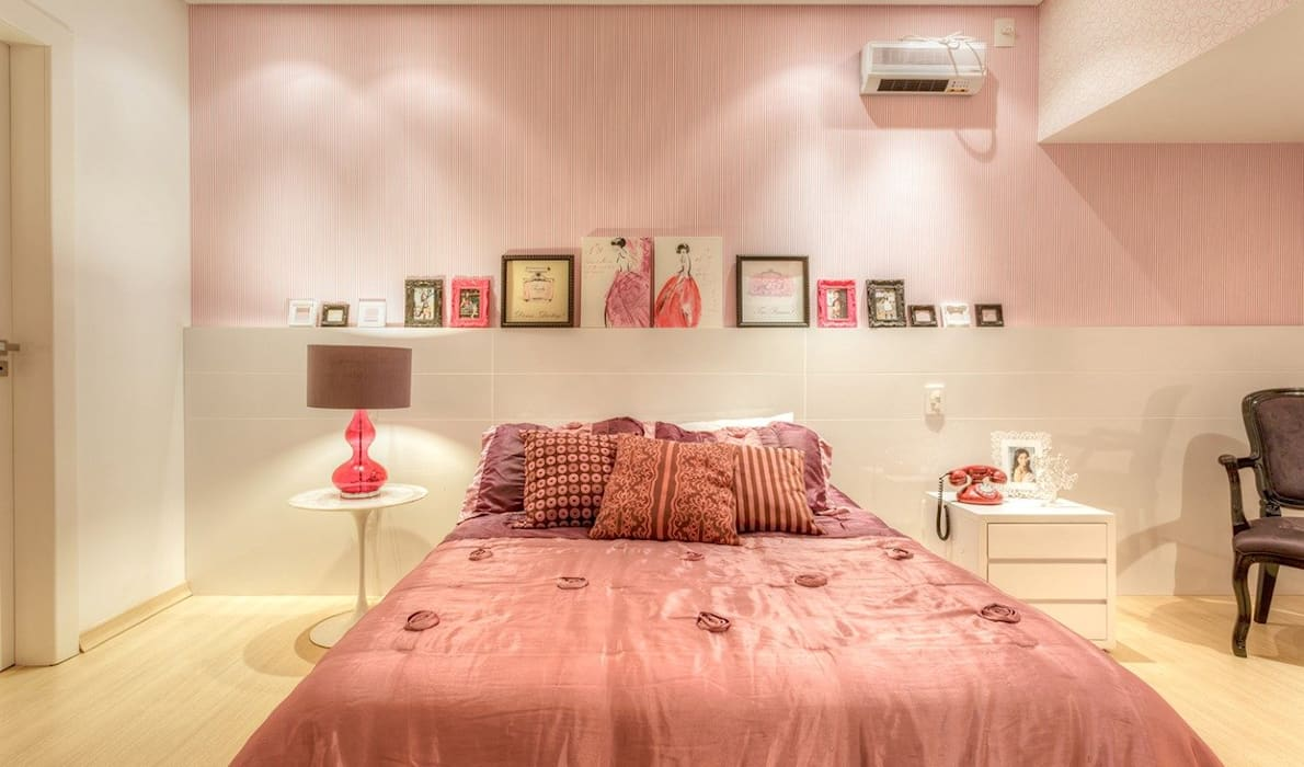 Eclectic style bedroom by JANAINA NAVES - Design & Arquitetura Eclectic MDF