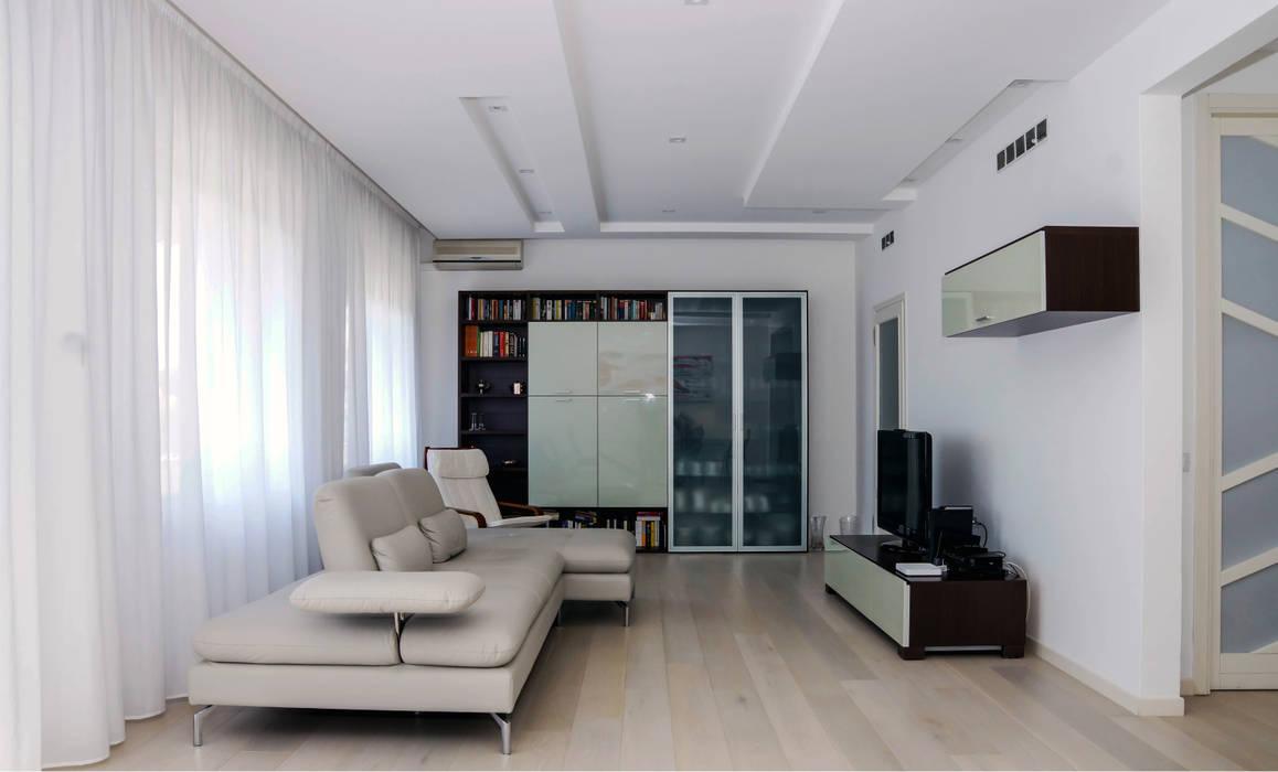 Polihouse Soggiorno minimalista di Luca Bucciantini Architettura d' interni Minimalista Legno Effetto legno