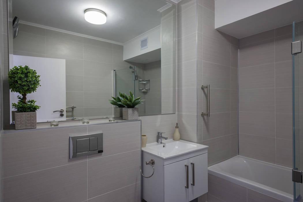 現代浴室設計點子、靈感&圖片 根據 Nailed it Projects 現代風