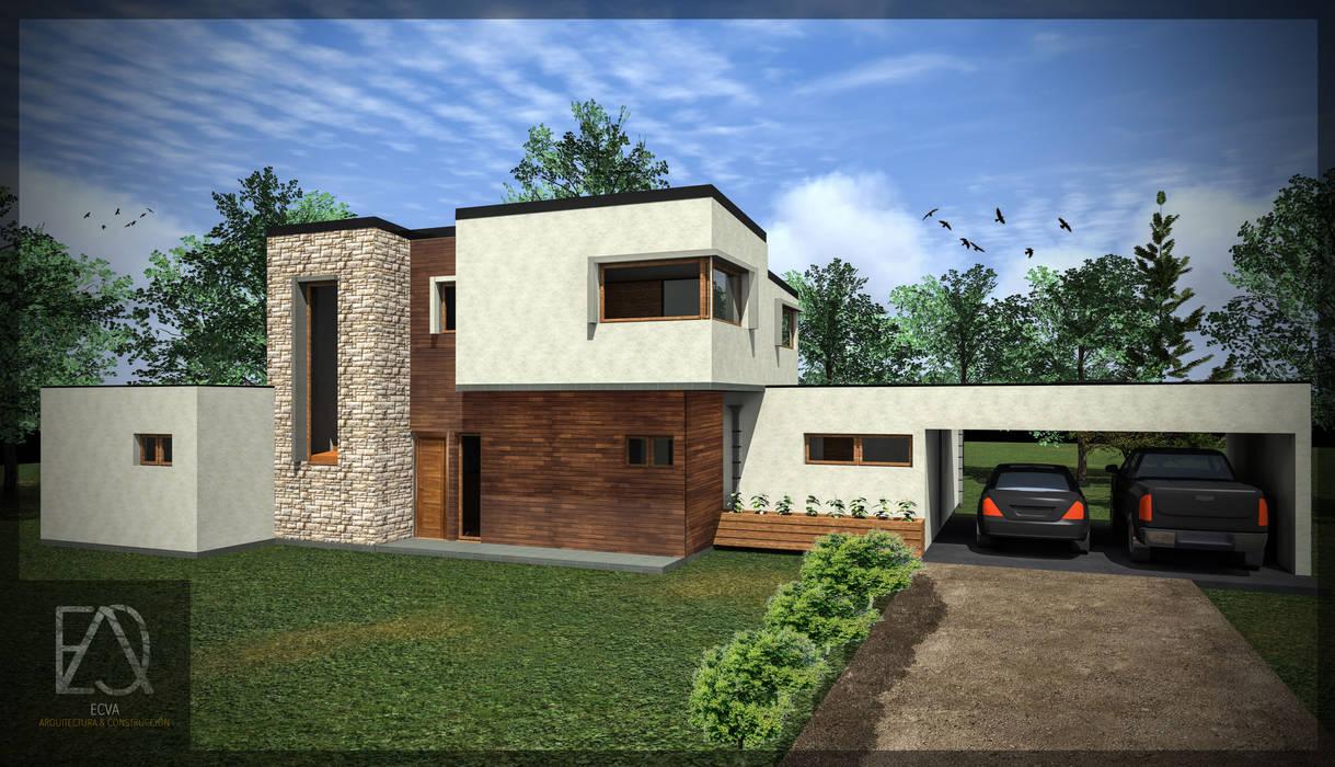Casa 188 Casas estilo moderno: ideas, arquitectura e imágenes de ECVA Arquitectura Moderno Madera Acabado en madera