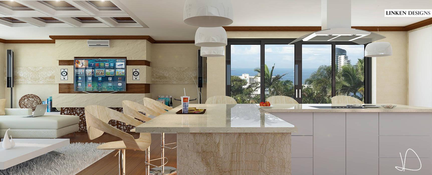 Bespoke Modern Kitchen:  Built-in kitchens by Linken Designs