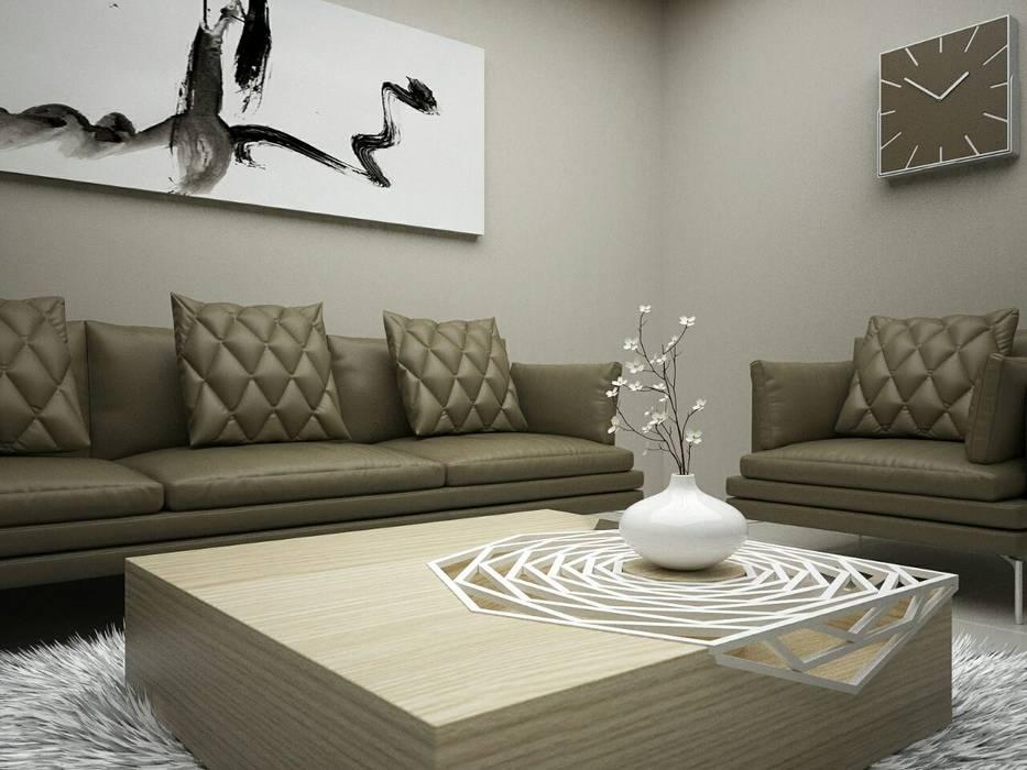 Luxury Living Room:  Living room by Linken Designs