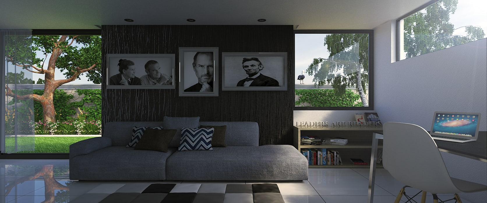 Artistic Living Room:  Living room by Linken Designs