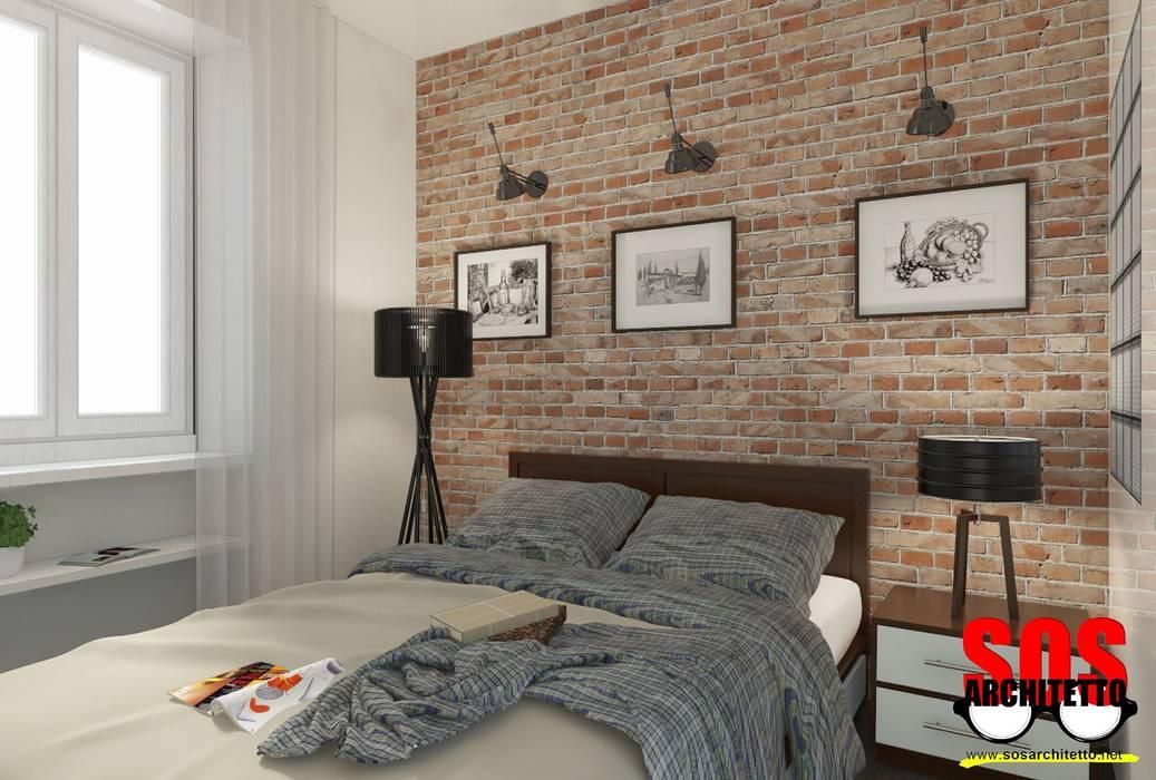 Industriële slaapkamers van homify Industrieel Stenen