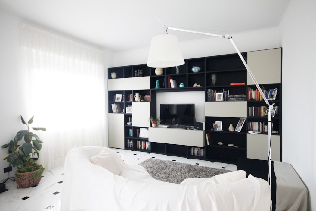 CASA C&A Soggiorno minimalista di Andrea Orioli Minimalista Legno Effetto legno