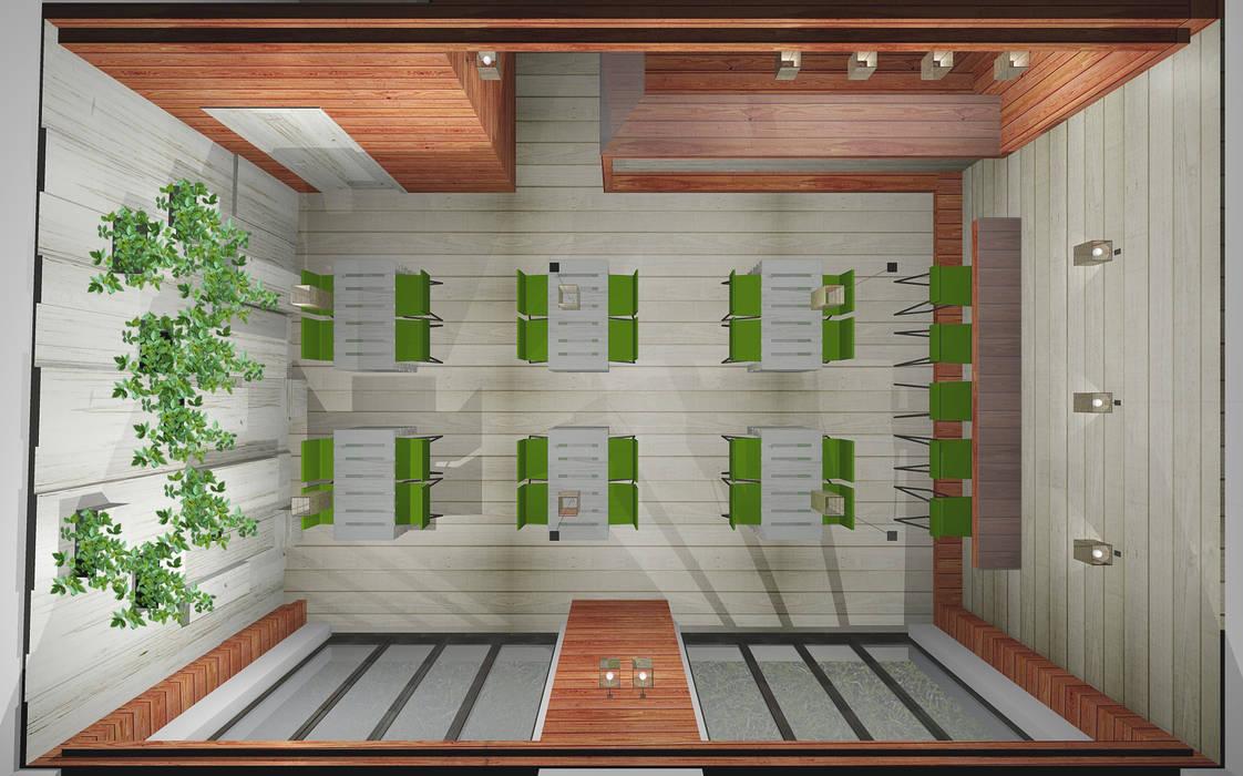 Render: Bar & Club in stile  di I-TAO architecture 'n design