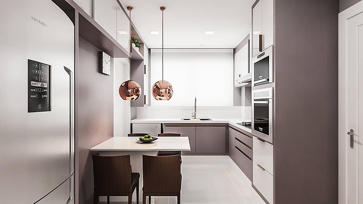 Cozinha: Cozinhas  por Flávia Kloss Arquitetura de Interiores,Moderno MDF