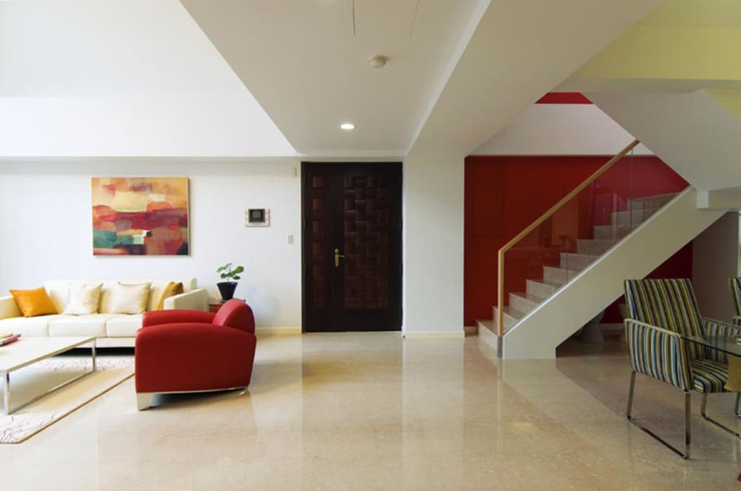 玄關 Modern Corridor, Hallway and Staircase by 果仁室內裝修設計有限公司 Modern