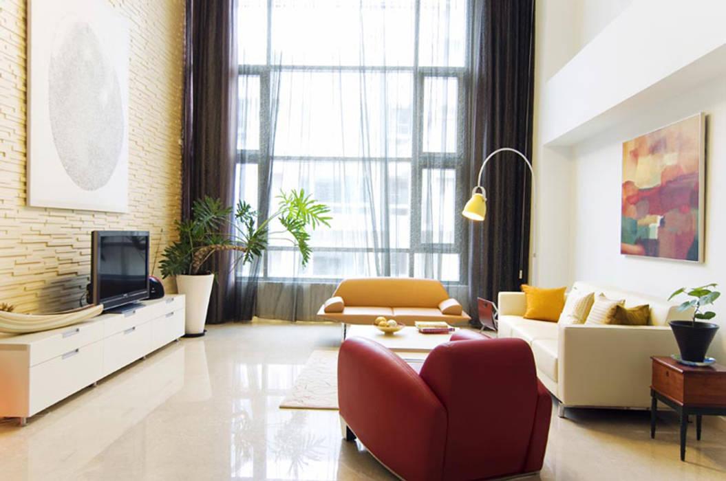 Living room by 果仁室內裝修設計有限公司, Modern