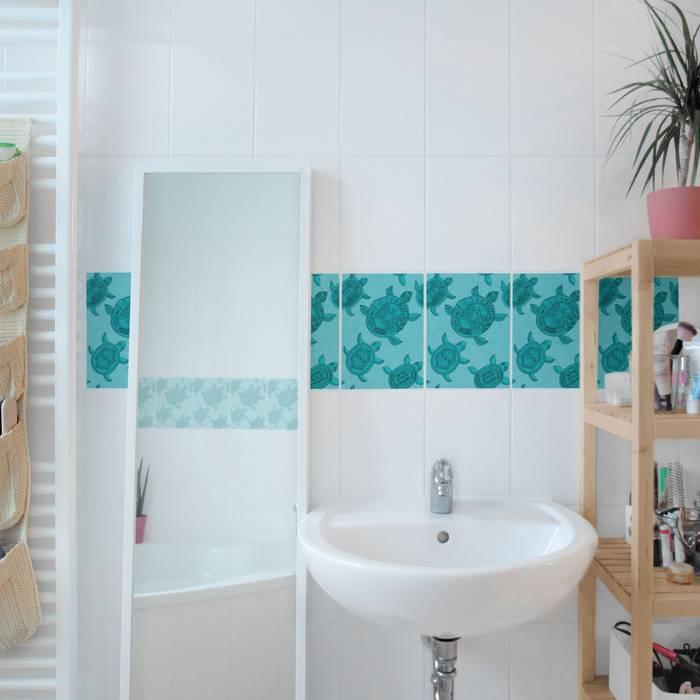Bilderwelten fliesenaufkleber mit schildkröten: badezimmer von ...