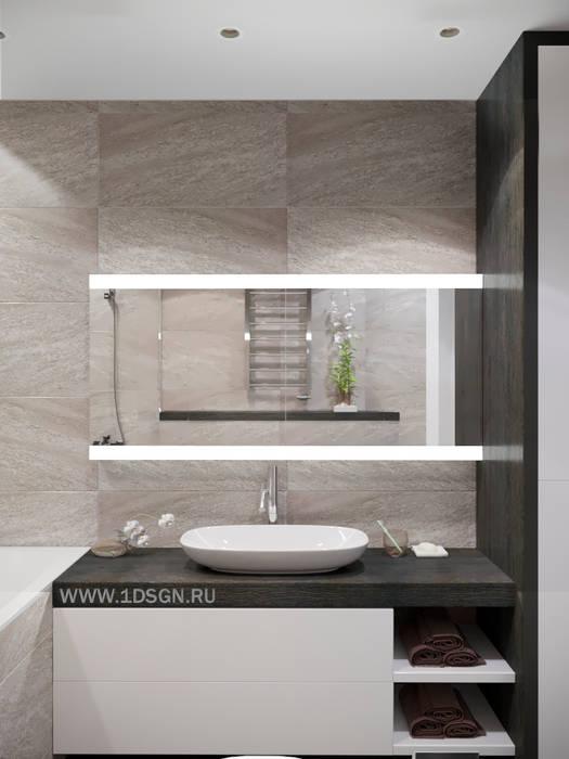 Дизайн проект ванной комнаты г. Санкт-Петербург: Ванные комнаты в . Автор – Дизайн студия 'Дизайнер интерьера № 1'