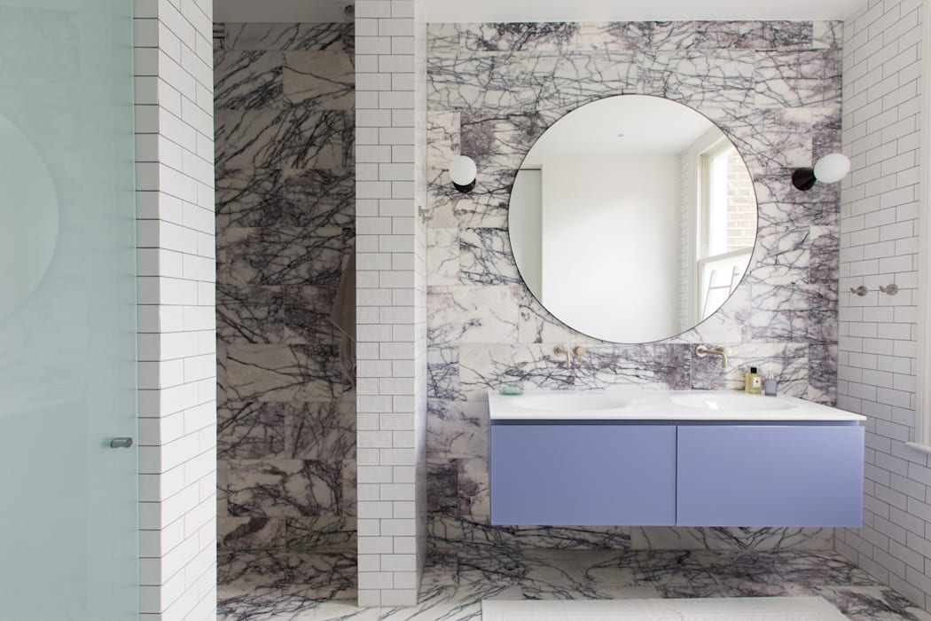 Hall - Brook Green London townhouse: modern Bathroom by My-Studio Ltd
