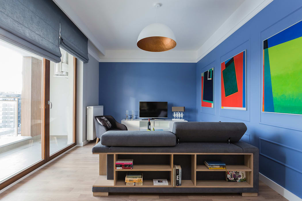 Livings de estilo escandinavo de Gama Design Sp. z o.o. Escandinavo