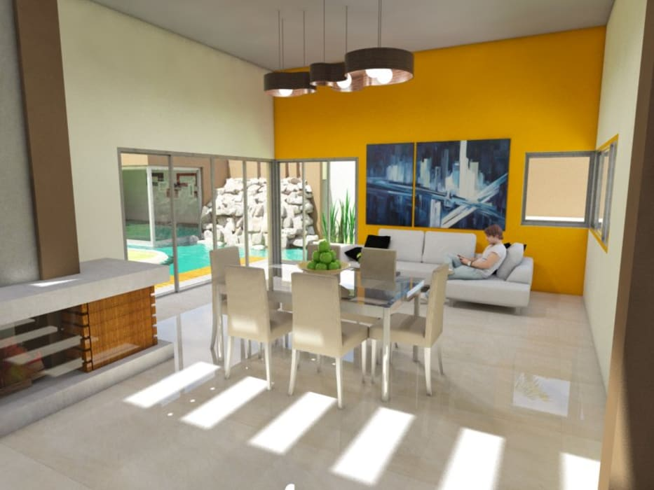 Salon moderne par Gastón Blanco Arquitecto Moderne