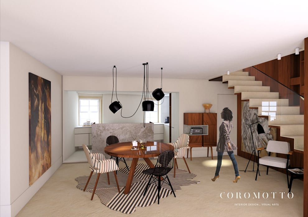 Coromotto Interior Design Eclectic style dining room