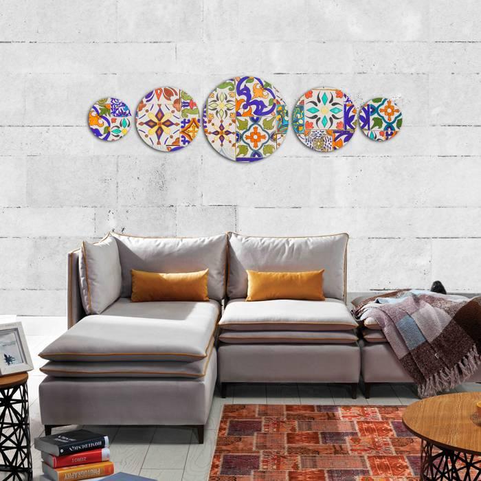 Canvas Design – Canvas Pictures 5-pieces:  tarz Duvarlar,