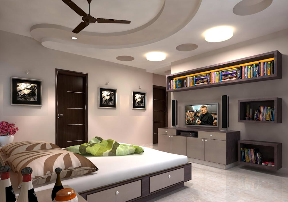 Room 2, View 1 Modern style bedroom by homify Modern