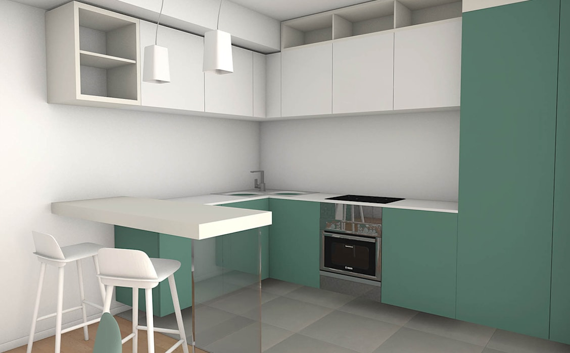 Casa S 2: Cucina in stile in stile Moderno di Laboratorio Creativo Up