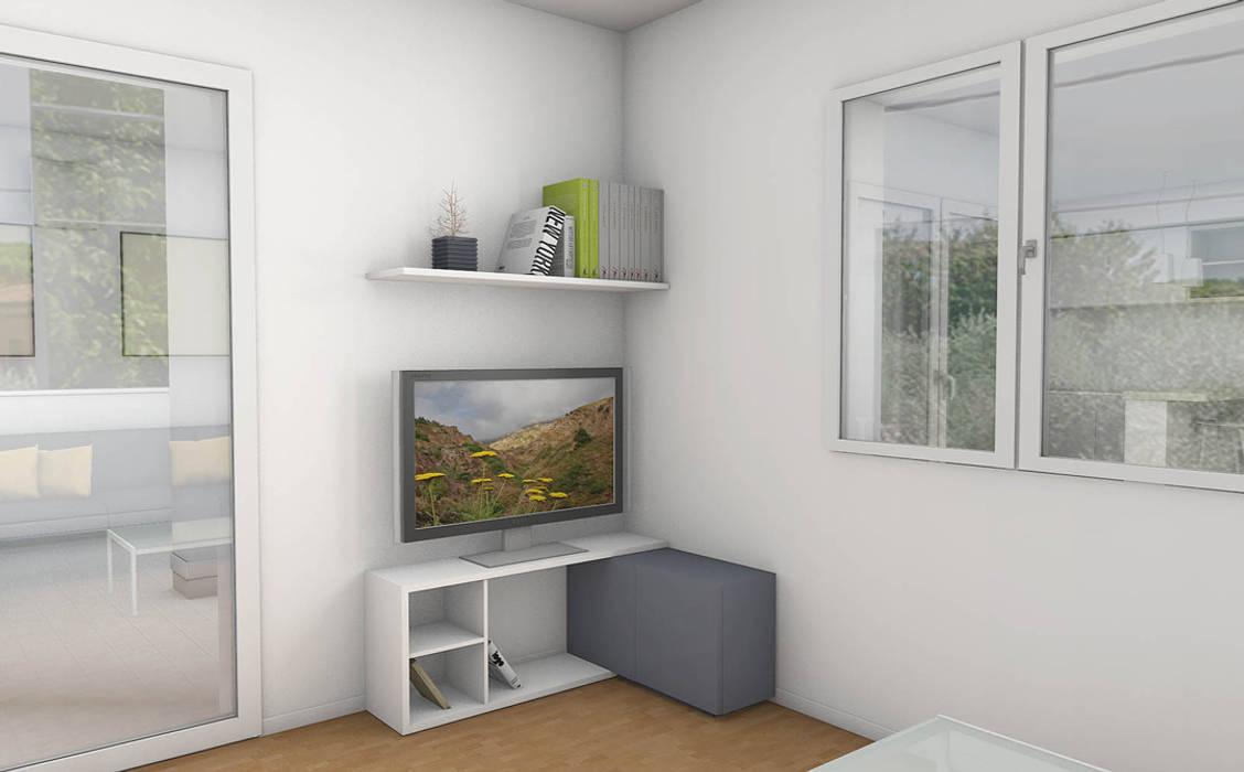 Casa S 5: Soggiorno in stile in stile Moderno di Laboratorio Creativo Up
