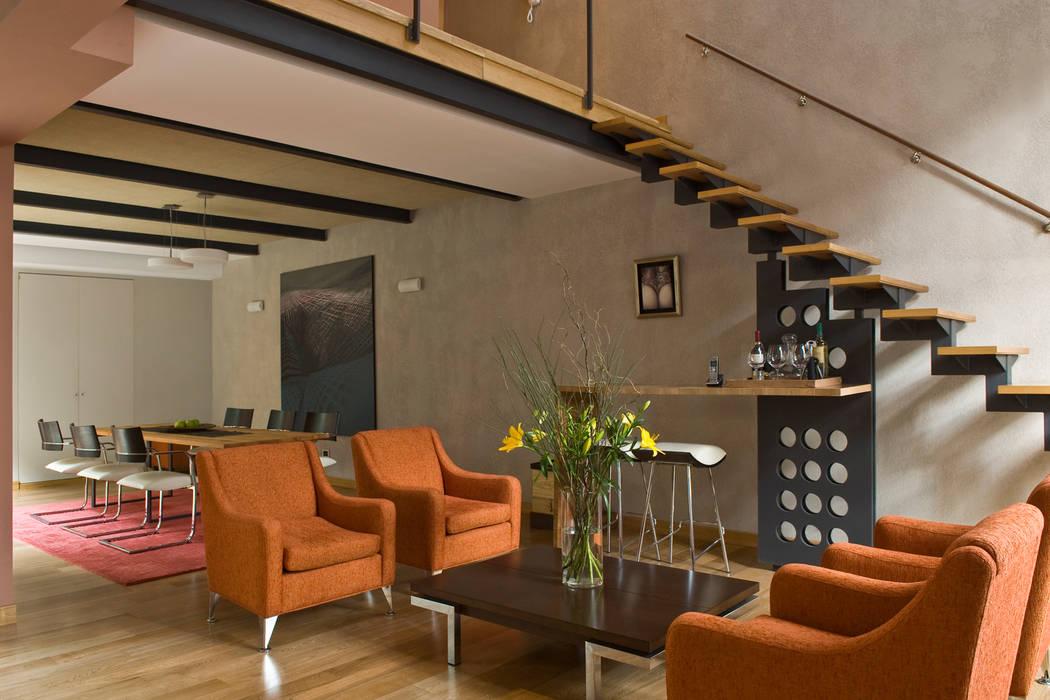 casa en palermo livings de estilo por arquitecta moriello
