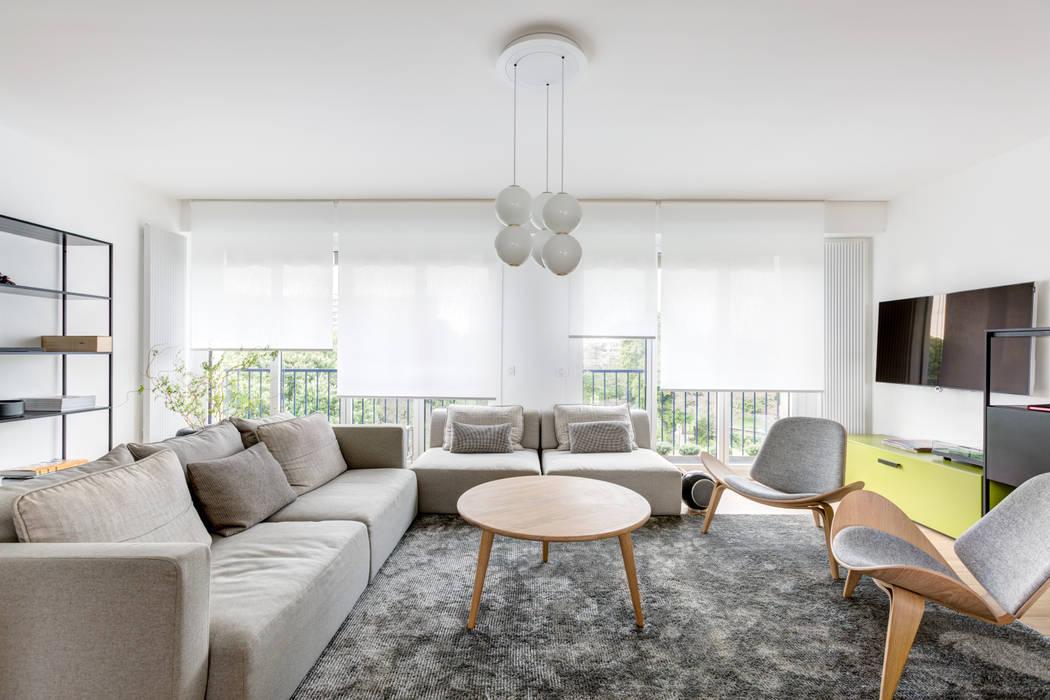 r novation d 39 architecte dans un appartement levallois. Black Bedroom Furniture Sets. Home Design Ideas