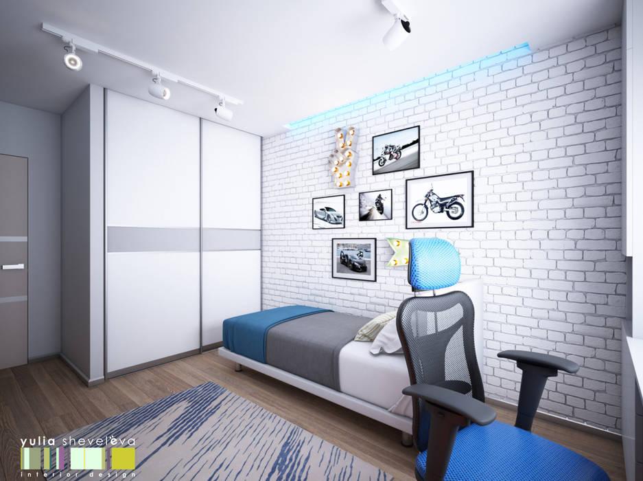 ОГНИ МЕГАПОЛИСА: Детские комнаты в . Автор – Мастерская интерьера Юлии Шевелевой