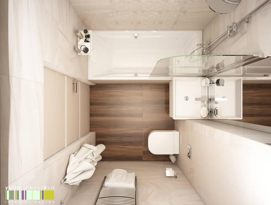 ОГНИ МЕГАПОЛИСА: Ванные комнаты в . Автор – Мастерская интерьера Юлии Шевелевой