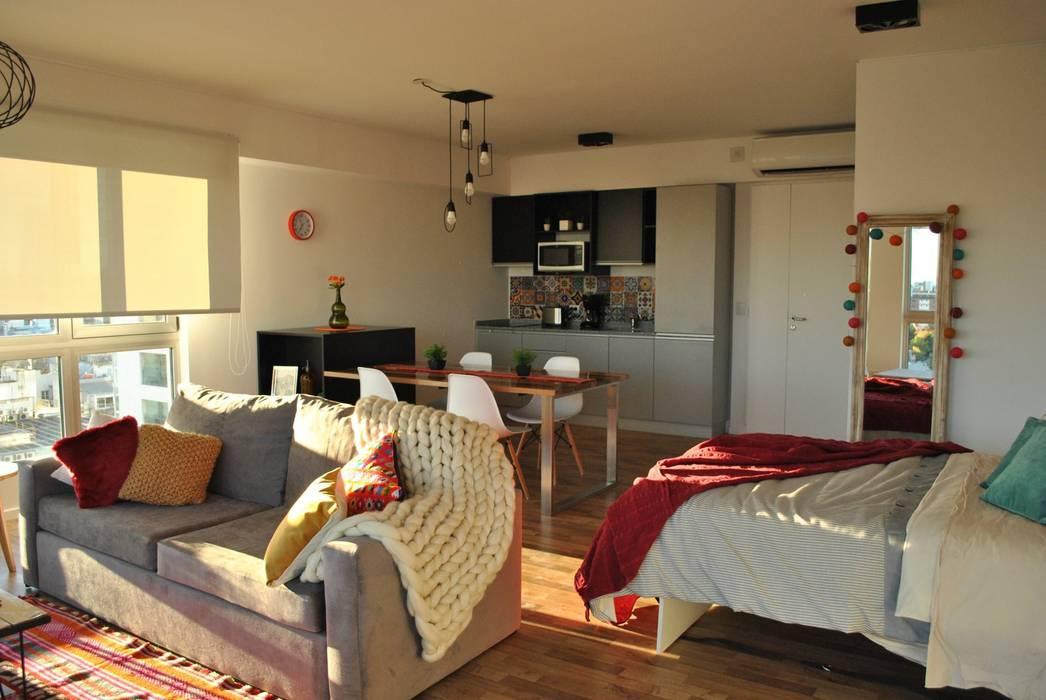 Living: Dormitorios de estilo  por MINBAI