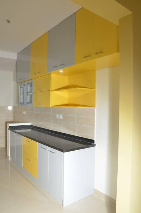Indian Parallel Kitchen Interior Design Kitchen By Scale Inch Pvt